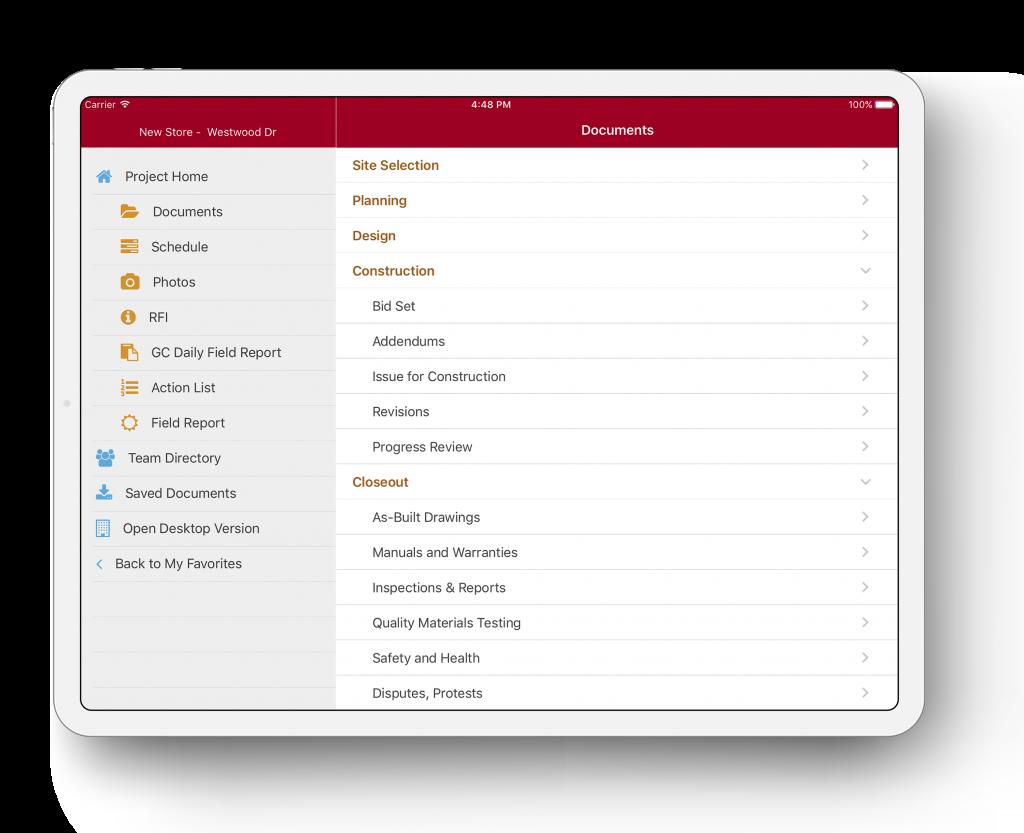 Projectmates Document Management Mobility