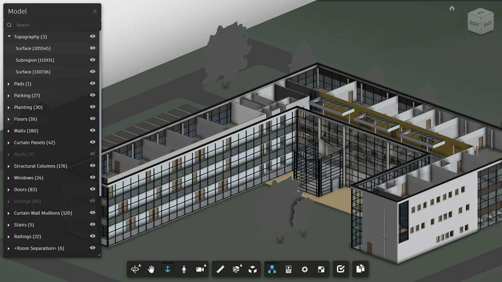 CAD rendering of building you can interact with.