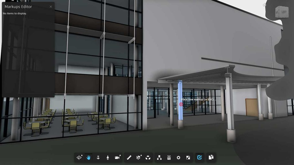Interactive 3D BIM file of building in construction.