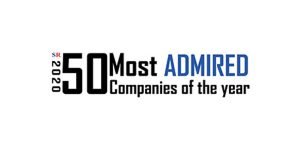 "Image of typography that states ""50 most admired companies of the year, 2020"""